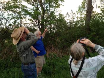 Bird watching with Steven Jay Sanford at Victory View Vineyard