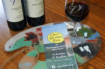 Open Studio Tour weekend special at Victory View Vineyard