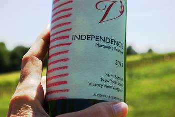 independence marquette wine at Victory View Vineyard