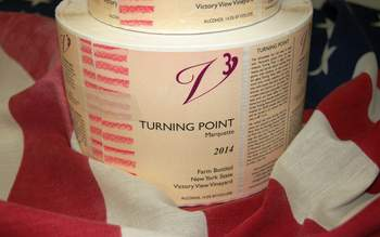 2014 Turning Point marquette wine labels