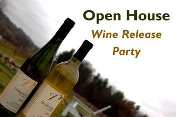 Dry white lacrosse wine and la crescent wine at Victory View Vineyard