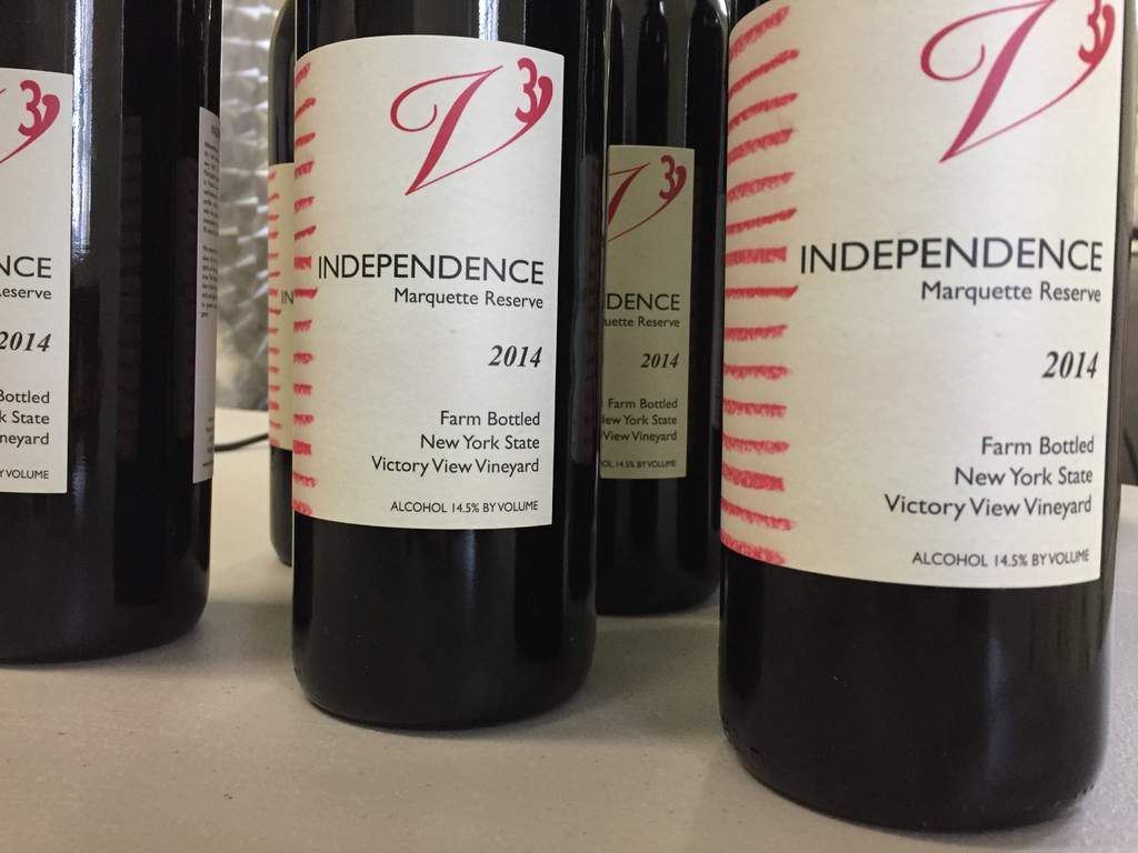 Bottles of our 2014 Independence marquette reserve.