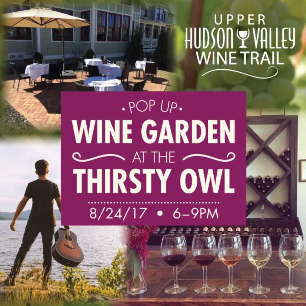 Victory View Vineyard pours wine at Thirsty Owl 6:00 to 9:00 pm on August 24, 2017.