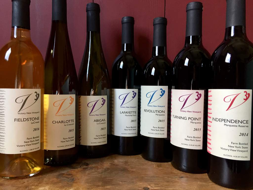 Bottles of our distinctive wines of the Upper Hudson region.