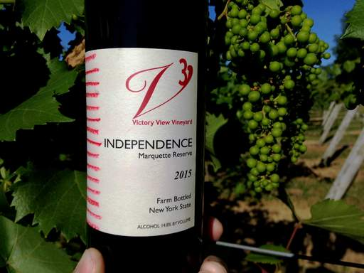 Independence marquette reserve at Victory View Vineyard