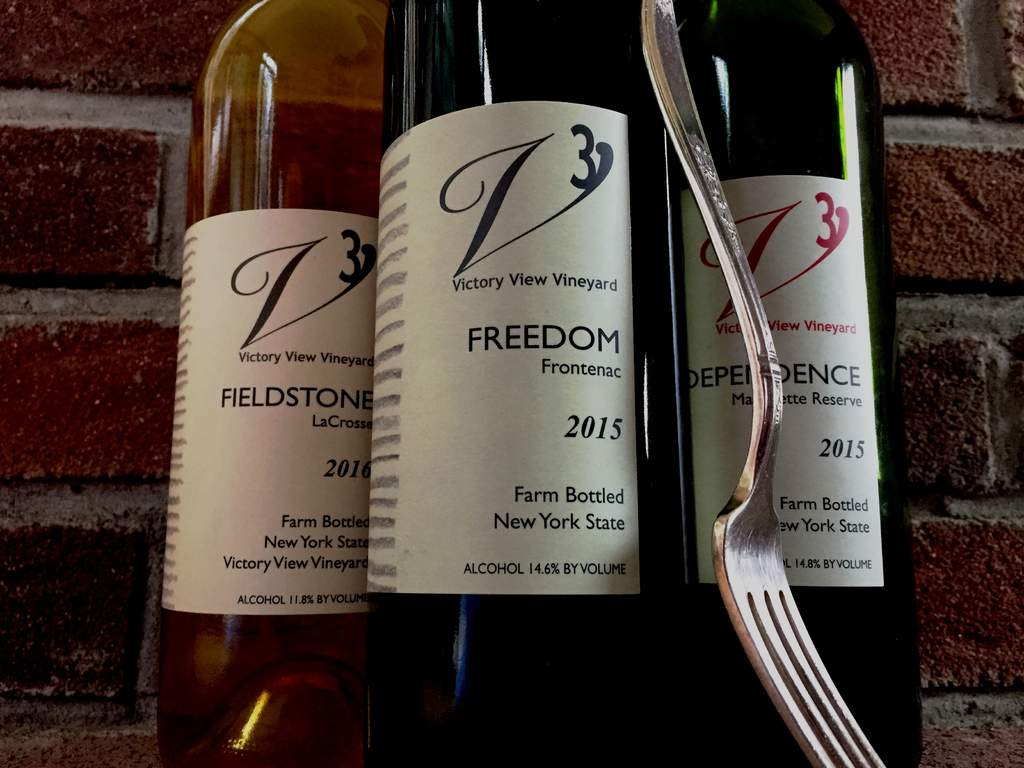 Victory View Vineyard's wine and local food are paired for a Dinner at Forged Restaurant.