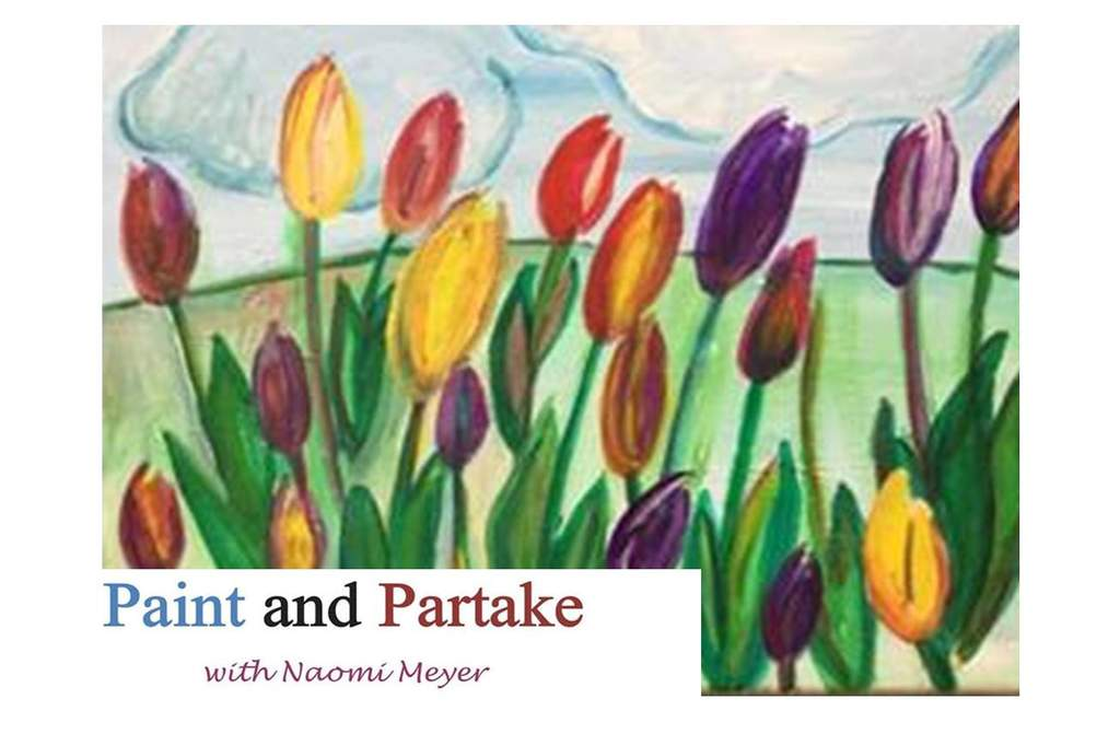 paint and sip event with Naomi Meyer - paint colorful tulips