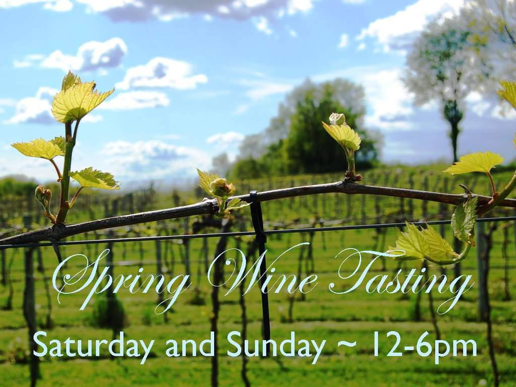 Spring wine tasting at Victory View Vineyard on Saturday and Sunday, 12-6pm.